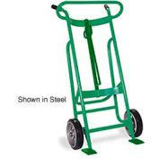 Valley Craft® EZY-Rol™ 2-Wheel Aluminum Drum Truck F81625A0 - Rubber Wheels