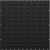 """Valley Craft Louvered Panel F85225A5 - Flanged 24""""W x 24""""H, Black, Price Per Pack of 2"""