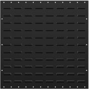 """Valley Craft Louvered Panel F85227A3 - Flat 24""""W x 24""""H, Black, Price Per Pack of 2"""