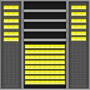 Vari-Tuff Deep Door Bin & Shelf Cabinet - 36x24x72 96 Bins 4 Shelves