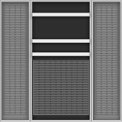 Vari-Tuff Deep Door Bin & Shelf Cabinet - 36x24x72 3 Shelves No Bins