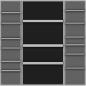 Vari-Tuff Deep Door Bin & Shelf Cabinet - 24x36x72 18 Shelves