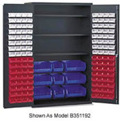 Vari-Tuff Jumbo Bin & Shelf Cabinet - 4 Shelves 137 Yellow Bins
