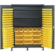 Vari-Tuff Extra Wide Storage Cabinet - 60x24x84 185 Bins 3 Shelves