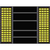 Vari-Tuff Deep Door Bin & Shelf Cabinet - 48x24x84 144 Bins 4 Shelves