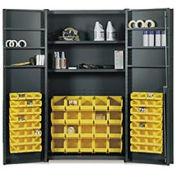 Vari-Tuff Deep Door Bin & Shelf Cabinet - 48x24x84 84 Bins 8 Shelves