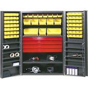 Vari-Tuff Utility Drawer Cabinet - 48x24x78 With 72 Bins
