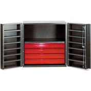"Vari-Tuff Half Cabinet with 4 Drawers and Shelves 36""W x 24""D x 36""H"