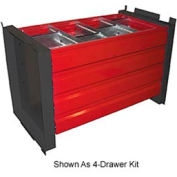 "8-Drawer Kit With 18""D Shelves"