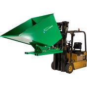 Valley Craft® Hydraulic Powered Self-Dumping Hopper, 2 Cu. Yd., 2,000 Lb. Cap., Green