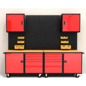 Valleycraft® Collectors Edition Garage - Suite A, Black/Red-F89257RB