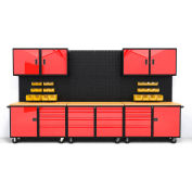 Valleycraft® Collectors Edition Garage - Suite C, Black/Red-F89259RB
