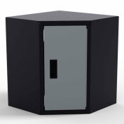 Valleycraft® Collectors Edition Garage Corner Wall Cabinet - 1 Door (R) 1 Adj Shelf - BK/Silver