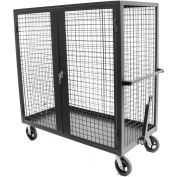 """Valley Craft® F89556 Security Truck 60""""L x 30""""W x 66""""H, Gray"""