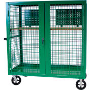 """Valley Craft® F89556G Security Truck 60""""L x 30""""W x 66""""H, Green"""