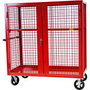 """Valley Craft® F89556VCRD Security Truck 60""""L x 30""""W x 66""""H, Red"""