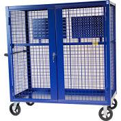 "Valley Craft® F89557B Security Truck 48""L x 24""W x 66""H, Blue"