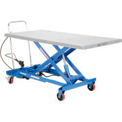 Vestil Pneumatic-Hydraulic Mobile Scissor Lift Table AIR-1000-LD 1000 Lb. Cap.