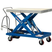 Vestil Pneumatic-Hydraulic Mobile Scissor Lift Table AIR-2000 2000 Lb. Cap.