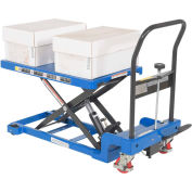 Low Profile Auto-Shift Hydraulic Scissor Lift Cart, 400 Lb. Capacity