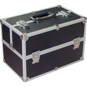 "Vestil CASE-F Aluminum Storage Case, 18""L x 11""W x 9""H, Black/Silver"
