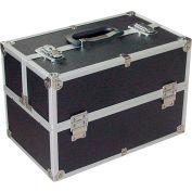"""CASE-F Aluminum Storage Case, 16""""L x 10""""W x 11""""H, Black/Silver"""