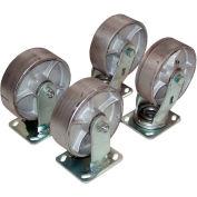 """Vestil 6"""" x 2"""" Semi-Steel Caster Kit D-CK4-SC6-2 for Vestil Hopper - 4800 Lb. Cap."""