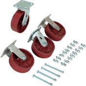 """Vestil 6"""" x 2"""" Ductile Steel Caster Kit D-CK4-SC6-2HD for Vestil Hopper - 8000 Lb. Cap."""