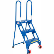 Folding Step Ladder With Wheels - 3 Steps - FLAD-3