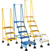 Commercial Rolling Ladder - Perforated - LAD-3-B-P