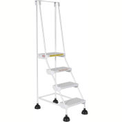 Commercial Rolling Ladder - Perforated - LAD-4-W-P