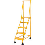 Commercial Rolling Ladder - Perforated - LAD-5-Y-P