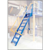 "Vestil, LAD-FM-108, Folding Mezzanine Ladder, 108""H"