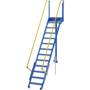 "Vestil, LAD-FM-120, Folding Mezzanine Ladder, 120""H"