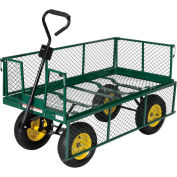 Vestil Nursery Landscape Cart with Fold Down Sides LSC-2448-4SD