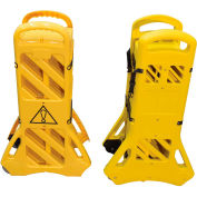 "Vestil Mobile Plastic Safety Barrier, Extended 138""L, Yellow"