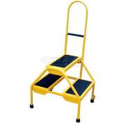 Rolling Two Step Ladder - Perf Steel - RLAD-P-2-Y
