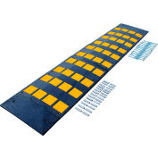 "5-10 MPH Rubber Speed Hump with Concrete Kit 23-1/2""W x 108""L"