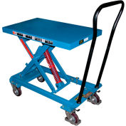 "Vestil Self-Elevating Lift Cart SCSC-800-2040 20""W x 40""L Platform"