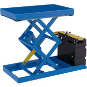 """Powered Double Scissor Lift Table with Hand Control 20"""" x 33"""" - 1000 Lb. Capacity"""