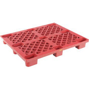Nestable Plastic Skid 47 x 39-1/4 x 5-1/2, Red