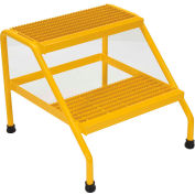 Vestil Aluminum Yellow Step Stand - 2 Step Welded - SSA-2-Y