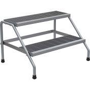 Vestil Aluminum Wide Step Stand - 2 Step - SSA-2W-KD