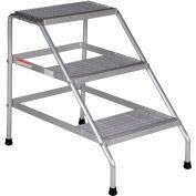 Vestil Aluminum Wide Step Stand - 3 Step Welded - SSA-3W