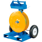 """Strapping Cart w/ Fork Pockets, 26-7/16""""L x 38""""W x 48-15/16""""H, Blue & Yellow"""