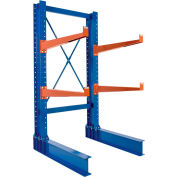 "Cantilever Rack SD Single Sided Unit, 6'H x 24"" Arms, 5,500 lb Cap. Baked Enamel"