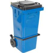 Blue Trash Can - 32 Gal W/Lid Lifter - TH-32-BLU-FL