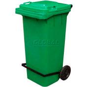 Blue Trash Can - 64 Gal W/Lid Lifter - TH-64-BLU-FL