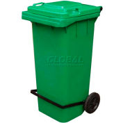 Green Trash Can - 64 Gal W/Lid Lifter - TH-64-GRN-FL