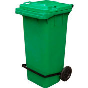 Blue Trash Can - 95 Gal W/Lid Lifter - TH-95-BLU-FL